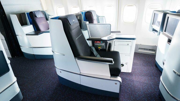 KLM world business class stoel ICA vluchten