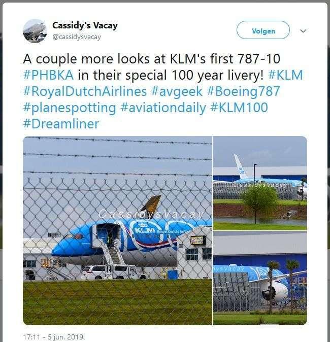 KLM 787-10 Livery