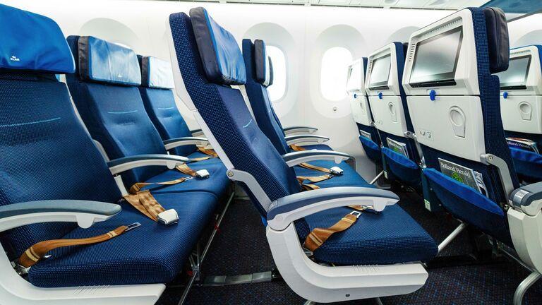 KLM economy class stoel ICA vluchten