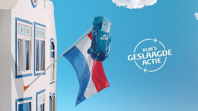 KLM geslaagd actie