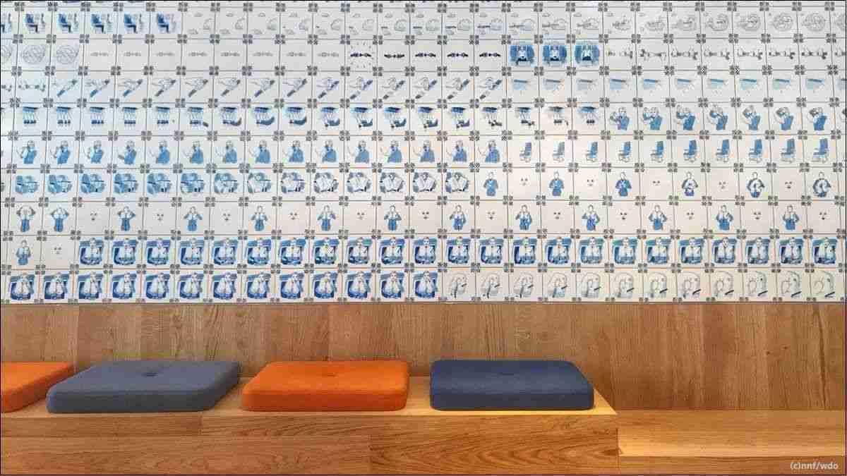 KLM Crown Lounge tegels